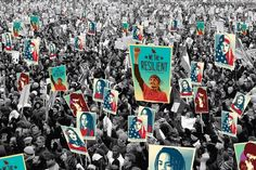 we the people inauguration posters street art amplifier foundatios Shepard fairey ernesto yerena jessica saboga