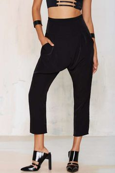 High and Low Drop Pants
