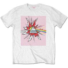 Officially licensed merch from Pink Floyd Lichtenstein Prism Slim Fit T-Shirt available at Rockabilia Pink Floyd, Prism Color, Slim Fit, Stitch Fix, Short Sleeves, Fitness, Cotton, Mens Tops, Clothes