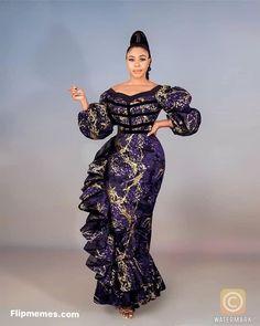 Nigerian Lace Styles Dress, Aso Ebi Lace Styles, Ankara Long Gown Styles, African Lace Styles, Lace Dress Styles, Nigerian Ankara Styles, Ankara Gowns, Latest African Fashion Dresses, African Dresses For Women