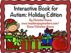 FREE. This interactive book is a quick and fun way to teach students with autism and related disabilities to respond to multiple cues in reading and educational materials and to pay attention to details. It's a quick holiday activity that has students choose the correct picture to match the phrase in the book. Repinned by SOS Inc. Resources pinterest.com/s
