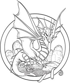 welcome to dover publications from creative haven fantastical dragons coloring book - Coloring Page Dragon
