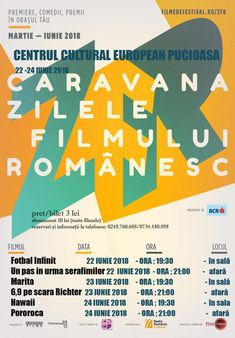 """Caravana """"Zilele Filmului Românesc"""" de la Pucioasa, 22-24 iunie 2018 – Turism Balneo Broadway, Movie, Caravan"""