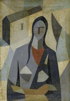 Vladimir Sterligov, 1904 -1973. Porträt einer Frau, Öl auf Leinwand, H. 57 x B. 40 cm.