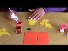 Fofucha plana - cómo difuminar la pintura