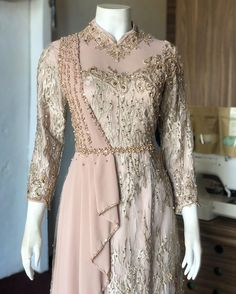 Kebaya Dress, Dress Pesta, Caftan Dress, Lace Dress, Hijab Dress Party, Hijab Style Dress, Dress Brokat Muslim, Kebaya Muslim, Simple Long Dress