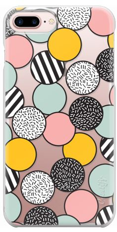 Casetify Protective iPhone 7 Plus Case and iPhone 7 Cases. Other Pattern iPhone Covers - Memphis Modern Pastel Circle Confetti by Season of Victory | Casetify