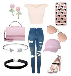 Untitled #8 by cielaphantomhivemichaelis on Polyvore featuring polyvore fashion style Topshop RED Valentino WithChic Bling Jewelry Big Bud Press Ray-Ban Miss Selfridge Casetify clothing