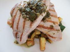 Tuna with Warm Herb Vinaigrette