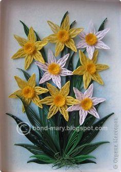 Мастер-класс Квиллинг Нарциссы традиционные + небольшой МК Бумага фото 1
