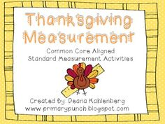 Thanksgiving Measurement {Standard Measurement Activities}