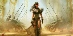 Daenerys Game of Thrones meets Mad Max by Andrew Doma Mad Max, Apocalypse World, Post Apocalypse, Cyberpunk, Character Art, Character Design, Character Portraits, Character Ideas, Post Apocalyptic Costume
