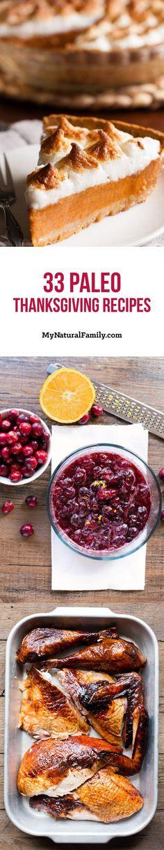 33 of the Best Paleo Thanksgiving Recipes #PaleoDietAndTheTruth