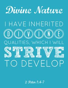 LDS Young Women Divine Nature printable from Is This Really My Life