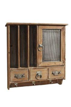 Wandregal holz antik  My Flair Landhaus Küchenregal Wandregal antik weiss Shabby Chic ...