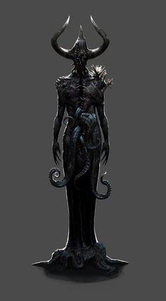 Demon – horror concept by Hookwang Lee Arte Horror, Horror Art, Dark Fantasy Art, Dark Art, Fantasy Demon, Mentor Espiritual, Character Art, Character Design, Ange Demon