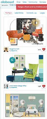 Tobi Fairley & Benjamin Moore Olioboard #Design #Contest