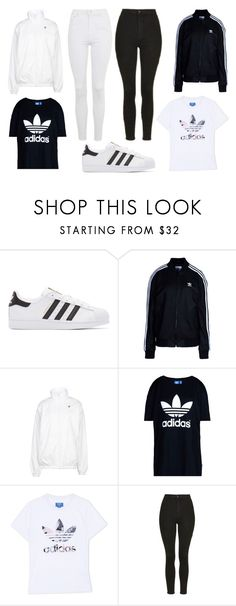"""Lisa and Lena Outfit #1"" by r100c on Polyvore featuring adidas Originals and Topshop"