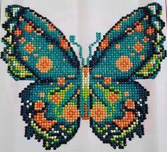 Butterfly Art, Butterflies, Cross Stitch Embroidery, Cross Stitch Patterns, Palestinian Embroidery, Cross Stitch Animals, 5d Diamond Painting, Ocean Art, Brick Stitch