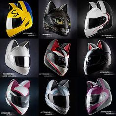 Your sensational love of CATS now available in Motorcycle Helmet Fashion. Motorcycle Helmet Design, Womens Motorcycle Helmets, Futuristic Motorcycle, Motorcycle Tank, Motorcycle Girls, Honda Motorcycles, Victory Motorcycles, Vintage Motorcycles, Motorcycle Boots Outfit