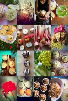 Collage of food styling from the Danish blog The Food Club, 2010-11