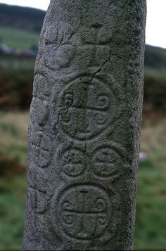 Northern Ireland - Said to be the earliest datable Christian monument in Ireland. This carved Standing Stone at Kilnasaggart is inscribed to Ternohc who according to the Irish Annals died in 714AD.