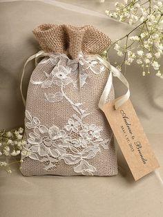 Natural Rustic Burlap Wedding Favor Bag Natural by Wedding Favor Bags, Wedding Gifts, Wedding Ideas, Lavender Bags, Burlap Lace, Hessian, Burlap Crafts, Gift Bags, Favors