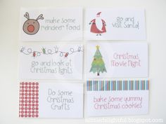 {printable} Advent Calendar Activity Cards - a little delightful