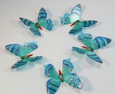20 Turquoise Stick on Butterflies Wedding by stickonbutterflies, $19.00