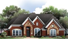 2634 sq ft - 3 bed 2 bath with option for a bonus room upstairs. great master suite. modest size.
