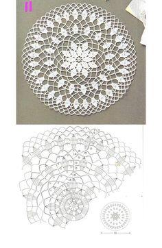 Ideas For Crochet Bag Flower Beautiful Crochet Doily Diagram, Crochet Mandala Pattern, Crochet Doilies, Crochet Chart, Crochet Patterns, Crochet Round, Crochet Home, Irish Crochet, Free Crochet