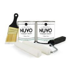 Coconut Espresso is a light, creamy beige, satin finish cabinet paint - part of our Rustic Collection. The Nuvo Cabinet Paint Kit is the quickest way to makeover your cabinets yourself because of two