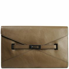 6f70a3f8043e5 French Connection Game On Large Leather Envelope Clutch
