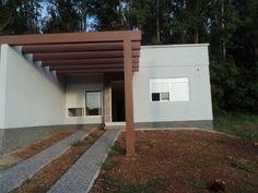 garagem-pergolados-madeira-vidro-policarbonato Awning Shade, Outdoor Spaces, Outdoor Decor, Tropical Garden, Spanish Style, House Front, Architecture Design, Sweet Home, Exterior