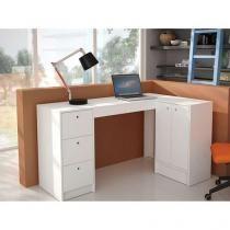 Mesa para Computador/Escrivaninha 2 Portas - 3 Gavetas - BRV Móveis BC 41-06