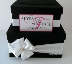 Wedding Card Box Kari, this one would be neat with green ribbon