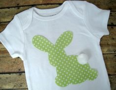 bunny applique onesie