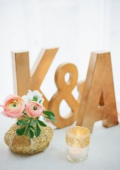 Glitz, glamour + metallic details are huge trends for modern winter weddings.