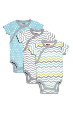 Free shipping and returns on Skip Hop Bodysuits (Set of 3) (Baby Boys) at Nordstrom.com. Contrast trim highlights the bold geometric prints and polka dots featured on a set of comfy bodysuits shaped from supersoft cotton.