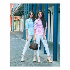 Aakriti Rana and shaurya sanadhya Girl Outfits, Casual Outfits, Fashion Outfits, Friends Fashion, Girl Fashion, Best Friend Outfits, Shrug For Dresses, Stylish Girls Photos, Fashion Forever