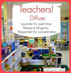 Young Living Essential Oils:  Teachers Diffuse!  For more information and to order Young Living, come visit:  www.TheSavvyOiler.com