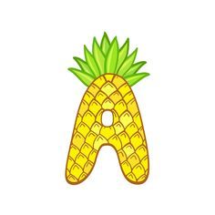 Letter A - ananas