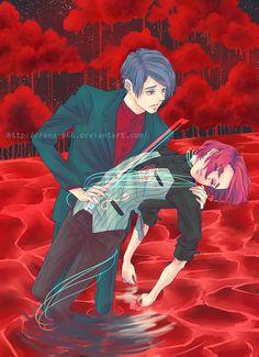 "rena666: "" hearstrings 2 [x] "" Kanae and Tsukiyama"