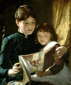 Knowledge is power by Seymour Joseph Guy born 1824 in Greenwich, UK died 1910 in New York City, USA
