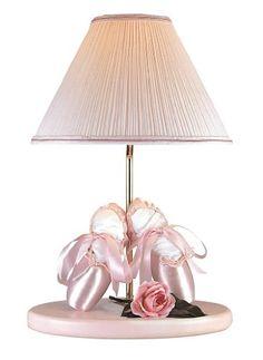 ballerina nursery themes | Lite Source 3BA30108 Ballerina Lamp with Night Light