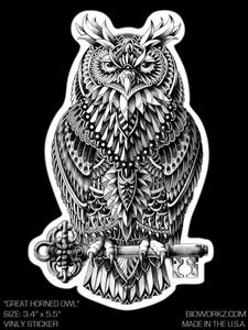 Image of Great Horned Owl Sticker
