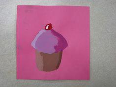 Miss Young's Art Room: Third Grade Wayne Thiebaud Cupcakes tint and shade lesson