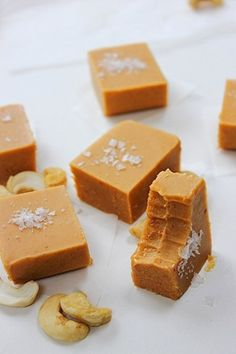 Three Ingredient Cashew Coconut Fudge | Peachy Palate | Bloglovin'