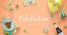 The Celebration Font Bundle is perfect for your party invites, celebratory cards, party banners, custom party goods, labels and more. Save $426 with 94% off! Blog Design, Creative Design, Truetype Fonts, Geometric Font, Fancy Fonts, Vintage Fonts, Party Banners, Beautiful Fonts, Modern Fonts