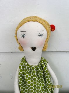 Cora A Unique 22 Inch Handcrafted Cloth Rag by palomitaragdolls